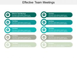 Effective Team Meetings Ppt Powerpoint Presentation Pictures Background Cpb