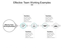 Effective Team Working Examples Ppt Powerpoint Presentation Outline Ideas Cpb
