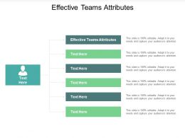Effective Teams Attributes Ppt Powerpoint Presentation Styles Example Topics Cpb