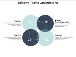 Effective Teams Organizations Ppt Powerpoint Presentation Outline Summary Cpb