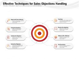 Effective Techniques For Sales Objections Handling