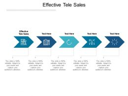 Effective Tele Sales Ppt Powerpoint Presentation Model Infographics Cpb