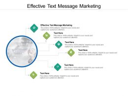 Effective Text Message Marketing Ppt Powerpoint Presentation Demonstration Cpb
