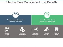Effective Time Management Key Benefits Powerpoint Graphics