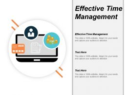 Effective Time Management Ppt Powerpoint Presentation Layouts Vector Cpb