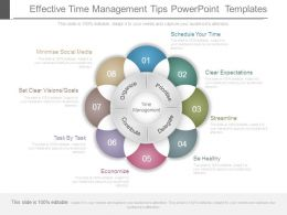Effective Time Management Tips Powerpoint Templates
