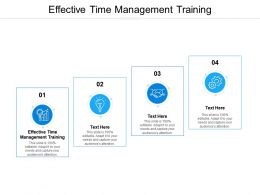 Effective Time Management Training Ppt Powerpoint Presentation Ideas Pictures Cpb
