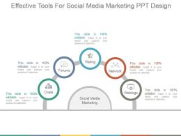 Effective Tools For Social Media Marketing Ppt Design