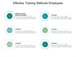 Effective Training Methods Employees Ppt Powerpoint Presentation Professional Gridlines Cpb
