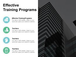Effective Training Programs Ppt Powerpoint Presentation Show Outline Cpb