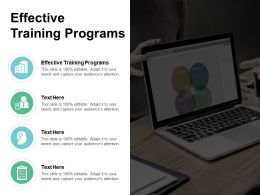 Effective Training Programs Ppt Powerpoint Presentation Slides Gridlines Cpb