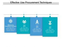 Effective Use Procurement Techniques Ppt Powerpoint Presentation Portfolio Professional Cpb