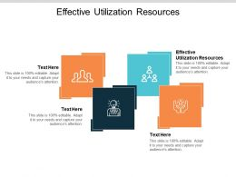 Effective Utilization Resources Ppt Powerpoint Presentation Slides Show Cpb