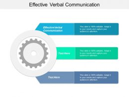 Effective Verbal Communication Ppt Powerpoint Presentation Outline Designs Download Cpb