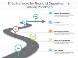Effective Ways For Financial Department In Timeline Roadmap