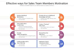 Effective Ways For Sales Team Members Motivation