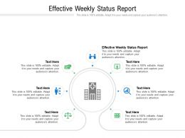 Effective Weekly Status Report Ppt Powerpoint Presentation Icon Graphic Tips Cpb