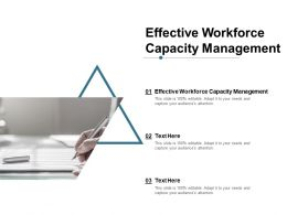 Effective Workforce Capacity Management Ppt Powerpoint Presentation Inspiration Slide Cpb