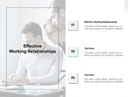 Effective Working Relationships Ppt Powerpoint Presentation Show Cpb