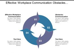 Effective Workplace Communication Obstacles Communication Alderfers Model 7s Model Cpb