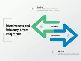 Effectiveness And Efficiency Arrow Infographic