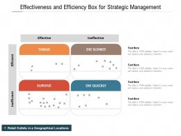 Effectiveness And Efficiency Box For Strategic Management