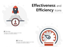 Effectiveness And Efficiency Icons