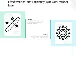 Effectiveness And Efficiency With Gear Wheel Icon