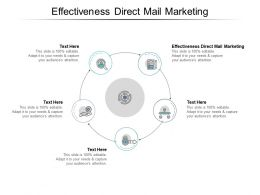 Effectiveness Direct Mail Marketing Ppt Powerpoint Presentation Diagram Graph Charts Cpb