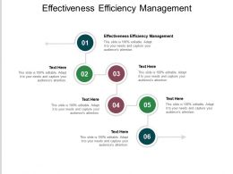 Effectiveness Efficiency Management Ppt Powerpoint Presentation Icon Slides Cpb
