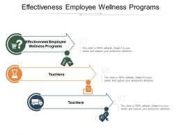 Effectiveness Employee Wellness Programs Ppt Powerpoint Presentation Layouts Diagrams Cpb