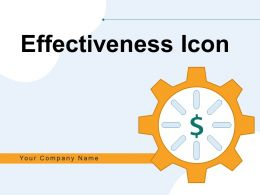 Effectiveness Icon Business Monetization Process Execution Growth