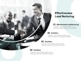 Effectiveness Lead Nurturing Ppt Powerpoint Presentation Ideas Outfit Cpb