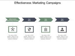 Effectiveness Marketing Campaigns Ppt Powerpoint Presentation Summary Cpb