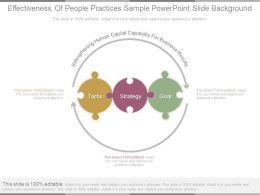 Effectiveness Of People Practices Sample Powerpoint Slide Background