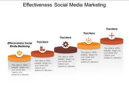 Effectiveness Social Media Marketing Ppt Powerpoint Presentation Gallery Example Cpb