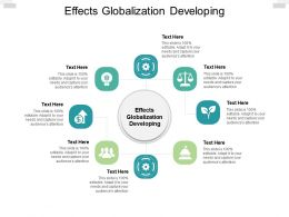 Effects Globalization Developing Ppt Powerpoint Presentation Infographic Design Cpb