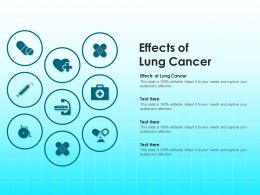 Effects Of Lung Cancer Ppt Powerpoint Presentation Inspiration Infographic Template