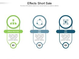 Effects Short Sale Ppt Powerpoint Presentation Pictures Portfolio Cpb