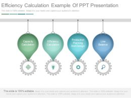 Efficiency Calculation Example Of Ppt Presentation
