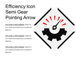 Efficiency Icon Semi Gear Pointing Arrow