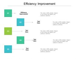 Efficiency Improvement Ppt Powerpoint Presentation Gallery Slides Cpb