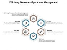 Efficiency Measures Operations Management Ppt Powerpoint Presentation Slides Background Images Cpb