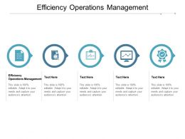 Efficiency Operations Management Ppt Powerpoint Presentation Icon Layouts Cpb