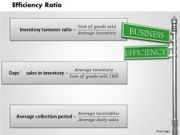 Efficiency Ratio powerpoint presentation slide template