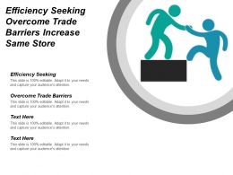 Efficiency Seeking Overcome Trade Barriers Increase Same Store