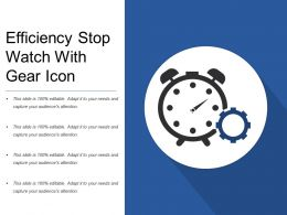 Efficiency Stop Watch With Gear Icon