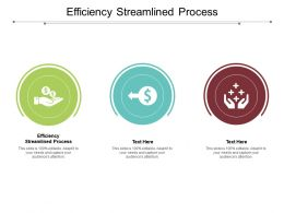 Efficiency Streamlined Process Ppt Powerpoint Summary Visual Aids Cpb