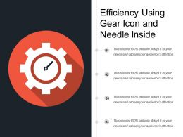 Efficiency Using Gear Icon And Needle Inside