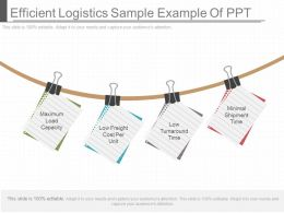 Efficient Logistics Sample Example Of Ppt